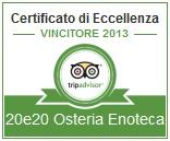Trip Advisor 2013 - Certificato di Eccellenza